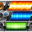 Banner with speakers - Stock Vector
