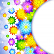 Background with abstract flowers - Imagen vectorial