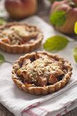 Apple and grape tart — Stock Photo