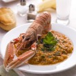 Greek style langoustine - Stock Photo