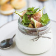 Stock Photo: Mascarpone and figs cream