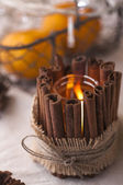 Handmade candle holder — Stock Photo