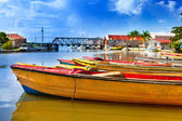 Jamaica. National boats on the Black river. — Stock Photo