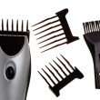 The machine for a hairstyle, nozzles and a brush for edge cleaning — Stock Photo