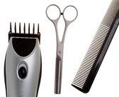 Nůžky a stroj pro účes — Stock fotografie
