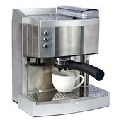Coffee Machine and cup — Stock Photo