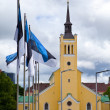 Stock Photo: St. John's Church, neogothic style, 1860 on Freedom Square. Tallinn, Estonia. ( Jaani krik)