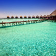 Stock Photo: Island in ocean, overwater villas