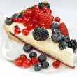Stock Photo: Piece of pie with fresh berries