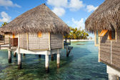 Lodges over the ocean — Stock Photo