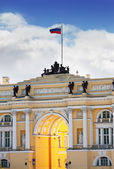 Russia, Saint Petersburg, palace square, Arch of General Army Staff Building — Stok fotoğraf