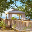 Stock Photo: Pavilion in natural style on a beach.