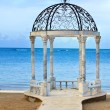 Stock Photo: Pavilion with a view of the sea