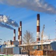 Old and new unit of combined heat and power plant — Stock Photo #14046840
