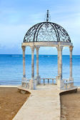 Pavilion with a view of the sea — Stock Photo