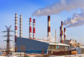 Old and new unit of combined heat and power plant — Stock Photo