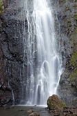 Waterfall. Polynesia. Tahiti — Zdjęcie stockowe