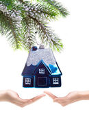 Toy small house - New Year's dream of own house — Стоковое фото