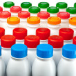 Yogurt bottles — Stock Photo