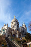 The Basilica of Sacre-Coeur, Montmartre. Paris. — Stock Photo