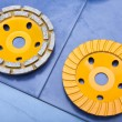 Diamond disks for a concrete abrasion - Foto Stock