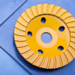 Diamond disk for a concrete abrasion - Foto Stock