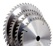 Circular Saw disc for wood cutting — Stock Photo