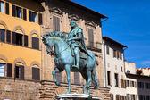 Monument of Cosimo Medici (1519-74) Italy. Florence. Piazza della Signoria. — Stock Photo