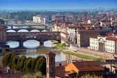 Italy. Florence. View of the city on top — Stok fotoğraf
