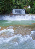 Jamaica. Dunn's River waterfalls — Stockfoto