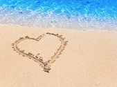 Heart- a picture on sand — Stock Photo
