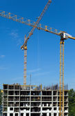 Work on a building area — Stock Photo
