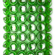 Empty glass beer bottles and cans — Stock fotografie