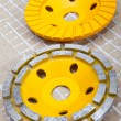 Stock Photo: Diamond disks for concrete cutting and abrasion