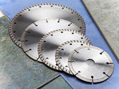 Diamond discs for tile cutting — Stockfoto