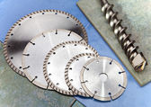 Diamond discs for tile cutting — Stock Photo