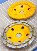Diamond disks for concrete cutting and abrasion — Stock Photo