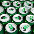 Aluminum beer cans — Stock Photo