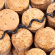 Plugs for wine bottles from natural cork - Stockfoto
