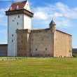 Estonia. Narva. Ancient fortress on border with Russia — Stock Photo #25209029