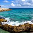 The sea coast in Xcaret park near Cozumel, Mexico — Stock Photo #25987477