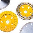Stock Photo: Diamond disks for tile and for concrete cutting and abrasion