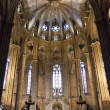 Barcelona cathedral interior, Barcelona, Spain — Stock Photo