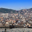 Spain. Barcelona. The top view on a city — Stock Photo