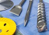 Ugelli per la perforatrice e un disco di diamante staccabile — Foto Stock