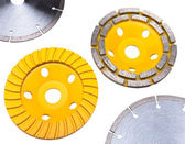 Diamond disks for tile and for concrete cutting and abrasion — Stock Photo