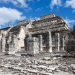 Stock Photo: 1000 pillars complex at Chichen Itzsite, Yucatan, Mexico