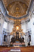 Vatican. In St. Peter's cathedral — Stock Photo