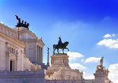 Piazza venezia i centrala rom, italien. monument för victor emenuel ii. — Stockfoto