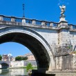 Stock Photo: View of famous Sant' Angelo Bridge. River Tiber